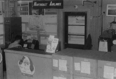 A historic photo of the Airport Office